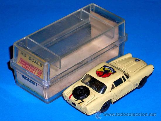 Slot Cars: Maserati slot car, fabricado en plástico, esc. aprox. 1/75, Aurora, Original años 60. Con caja. - Foto 3 - 24939273