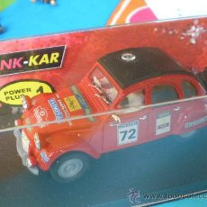 Slot Cars: OFERTA PINK KAR CITROEN 2 CV NUEVO PEP TORRAS RALLIE COMPATIBLE SCALEXTRIC. Lote 44755096