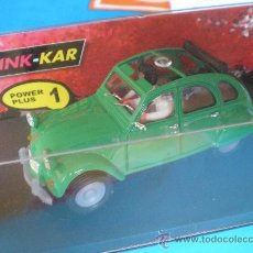 Slot Cars: PINK KAR CITROEN 2 CV NUEVO VERDE DESCATALOGADO RALLIE COMPATIBLE SCALEXTRIC. Lote 45762102