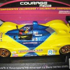 Slot Cars: COURAGE C65 MAZDA CON COMPONENTES CALIBRADOS DE SPIRIT. Lote 137126436