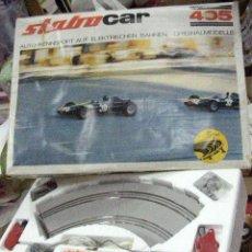 Slot Cars: ANTIGUO CIRCUITO STABO CAR MOD. 405 GERMANY EN CAJA PARA 1/32 CON VIRAJE EN DECLIVE ESCARPADO. Lote 30466817