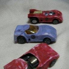 Slot Cars: LOTE DE ANTIGUOS COCHES SLOT DE LA PISTA RAPIDA METEORO DE NACORAL. Lote 31419867