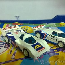 Slot Cars: COHES DE CARRERRA PROFI CIRCUITO MONZA MADE IN GERMANY 2 COCHES +MANDOS +PISTAS. Lote 33427558