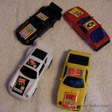 Slot Cars: LOTE DE DOS COCHES SLOT MAS DOS CARROCERIAS DE RECAMBIO NUEVAS SIN USAR. Lote 34688072