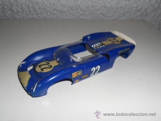MONOGRAM 1/32 CARROCERIA AZUL #22 - AÑOS 60 - 24H LE MANS - VINTAGE SLOT CAR