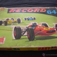 Slot Cars: PISTA DE CARRERAS RECORD 64 BABY DE JOUEF ESPAÑA REF. 394. Lote 40275977