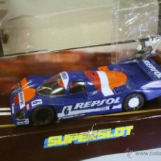 Slot Cars: SUPERSLOT. PORSCHE 962 REPSOL #6 AZUL.. Lote 40585054