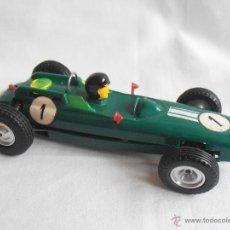 Slot Cars: COCHE SCALEXTRIC PORSCHE VERDE FRANCE BOLIDE ORIGINAL AÑOS 60. Lote 41219318