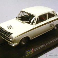 Slot Cars: REVELL MONOGRAM. FORD CORTINA LOTUS. JIM CLARK. OULTON PARK 1965. SERIE LIMITADA DE 3500. Lote 42171680