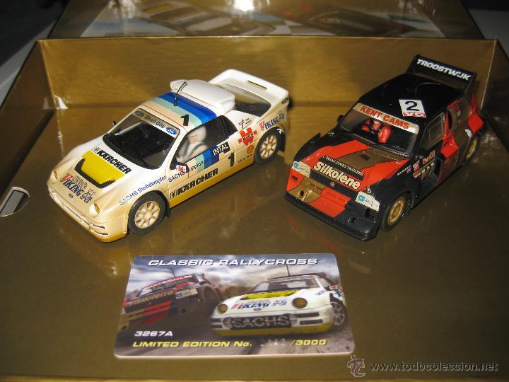 OFERTA - CAJA ESPECIAL CON FORD RS200 Y METRO 6R4 EFECTO BARRO DE SUPERSLOT (Juguetes - Slot Cars - Magic Cars y Otros)