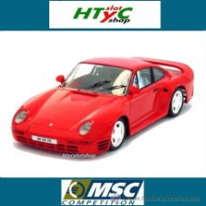 Slot Cars: MSC PORSCHE 959 STREET CAR RED MONTECARLO CHASIS MSC6019. Lote 44191439
