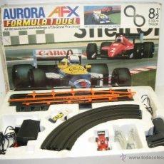 Slot Cars: CIRCUITO SLOT TOMY AURORA AFX FORMULA 1 DUEL WILLIAMS HONDA & FERRARI F1. Lote 45232383