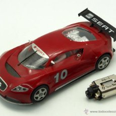 Slot Cars: SEAT CUPRA GT SCALEXTRIC MADE IN CHINA CON MOTOR TECNITOYS. Lote 47554814