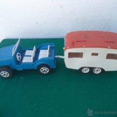 Slot Cars: COCHE CON REMOLQUE AÑOS 70. Lote 50701490