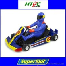 Slot Cars: SUPERSLOT RACING KART AVIONIC #1 BLUE AZUL SCALEXTRIC UK H3668. Lote 50940540