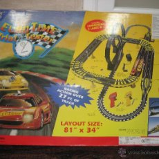 Slot Cars: SET CIRCUITO DE COCHES ELECTRICO EURO TIME TRIAL 1 RACING TESTER.. Lote 68832526