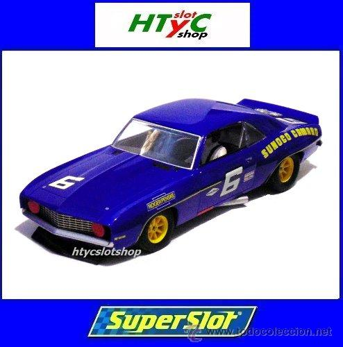 SUPERSLOT CHEVROLET CAMARO 1969 #6 SUNOCO DONOHUE / MINTER SCALEXTRIC UK S3650 (Juguetes - Slot Cars - Magic Cars y Otros)