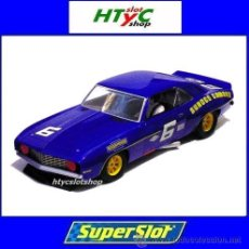 Slot Cars: SUPERSLOT CHEVROLET CAMARO 1969 #6 SUNOCO DONOHUE / MINTER SCALEXTRIC UK S3650. Lote 53383796
