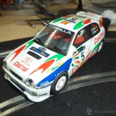Slot Cars: TOYOTA COROLLA 1/32 PARA SCALEXTRIC HORNBY.MADE IN UK.CARLOS SAINZ LUIS MOYA.. Lote 97281244