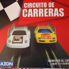 Slot Cars: CIRCUITO CARRERAS LA RAZON (LOTE DE 80 PIEZAS). Lote 109455042
