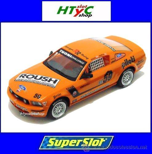 SUPERSLOT MUSTANG RS500C #59 REHAGEN RACING ROUSH / MARTIN SCALEXTRIC UK H2888 (Juguetes - Slot Cars - Magic Cars y Otros)