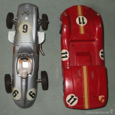 Slot Cars: 2 MARKLIN SPRINT MERCEDES BENZ MONOPOSTO + PORSCHE CARRERA 6 ROJO. Lote 55099220