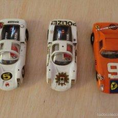 Slot Cars: GAMA, LOTE DOS PORSCHE CARRERA 6 MÁS FERRARI 275 GT. Lote 57152429