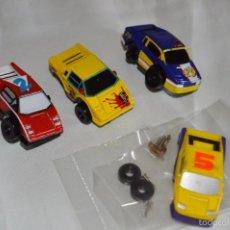 Slot Cars: LOTE DE COCHES Y ACCESORIOS - MICROMACHINES - MICRO MACHINES - SLOT - MIRA LAS FOTOGRAFÍAS (LOTE08). Lote 57997243