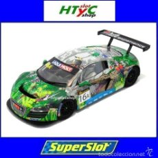 Slot Cars: SUPERSLOT AUDI R8 GT3 #16A CROCODRILE PHOENIX 12 HS BATHURST HAASE / ORTELLI SCALEXTRIC UK S3717. Lote 60030707
