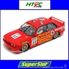 Slot Cars: OFERTÓN! SUPERSLOT BMW E30 M3 #44 BTCC 1988 BRANDS HATCH ROLAND RATZENBERGER SCALEXTRIC UK S3739. Lote 133896447