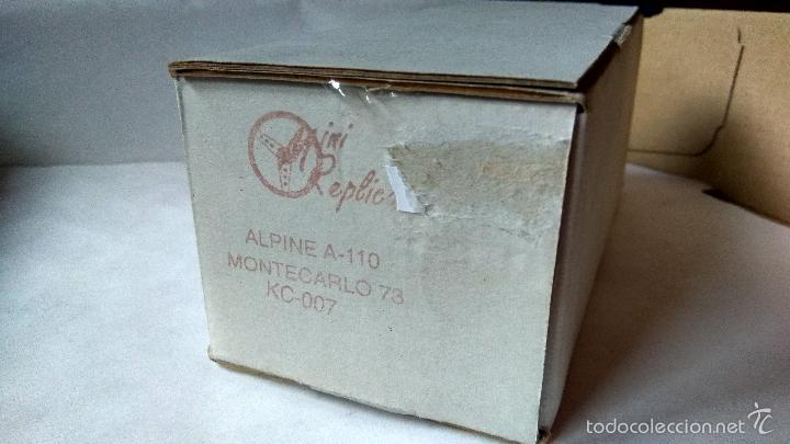 Slot Cars: MINI REPLICAS ALPINE A-110 MONTECARLO´73 RESINA REF. KC007 - Foto 2 - 134168054