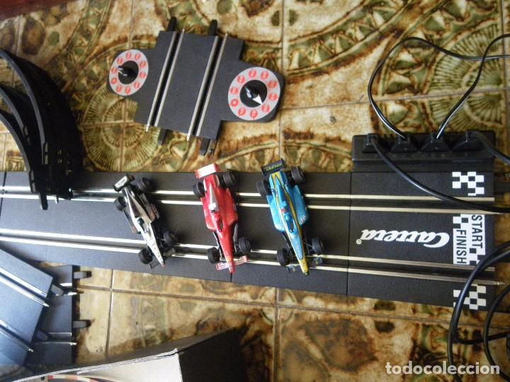 SCALEXTRIC CARRERA GOO CON TRES COCHES FORMULA 1 FUNCIONANDO , VERRR (Juguetes - Slot Cars - Magic Cars y Otros)