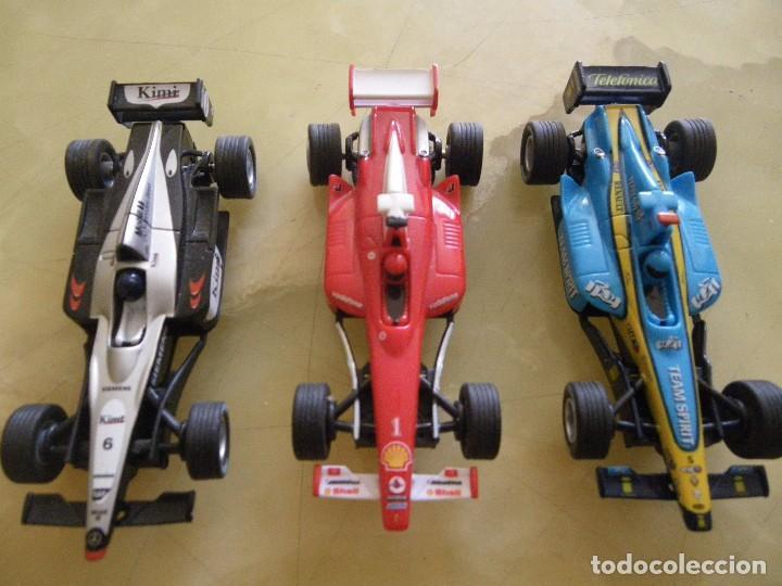 Slot Cars: scalextric carrera goo con tres coches formula 1 funcionando , verrr - Foto 7 - 61741772