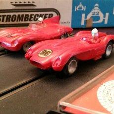 Slot Cars: STROMBECKER PAYÁ. 2 CIRCUITOS, 2 COCHES, 2 CAJAS, 4 MANDOS. IBI (ALICANTE) 1970.. Lote 62678743