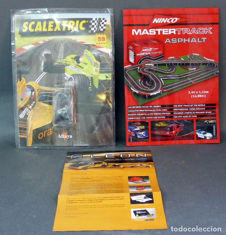 Slot Cars: Blister Scalextric Altaya con ruedas y 2 folletos Scalextric - Foto 1 - 65770274