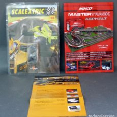 Slot Cars: BLISTER SCALEXTRIC ALTAYA CON RUEDAS Y 2 FOLLETOS SCALEXTRIC. Lote 65770274
