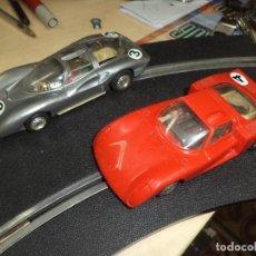 Slot Cars: LOTE 2 COCHES 1/32 PARA PISTAS SLOT Y SCALEXTRIC POLICAR ITALY 1970.ALFA ROMEO LE MANS Y FERRARI P 5. Lote 66829554