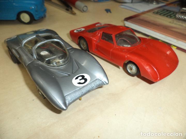 Slot Cars: Lote 2 coches 1/32 para pistas slot y Scalextric Policar Italy 1970.Alfa Romeo Le Mans y Ferrari P 5 - Foto 2 - 66829554