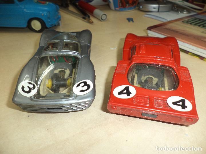 Slot Cars: Lote 2 coches 1/32 para pistas slot y Scalextric Policar Italy 1970.Alfa Romeo Le Mans y Ferrari P 5 - Foto 4 - 66829554