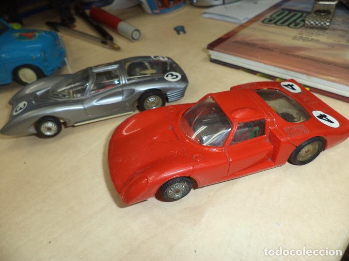 Slot Cars: Lote 2 coches 1/32 para pistas slot y Scalextric Policar Italy 1970.Alfa Romeo Le Mans y Ferrari P 5 - Foto 5 - 66829554