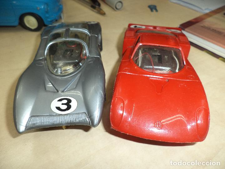 Slot Cars: Lote 2 coches 1/32 para pistas slot y Scalextric Policar Italy 1970.Alfa Romeo Le Mans y Ferrari P 5 - Foto 6 - 66829554