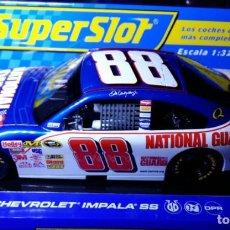Slot Cars: CHEVROLET IMPALA SS Nº 88-NATIONAL GUARD SUPERSLOT. Lote 68599309