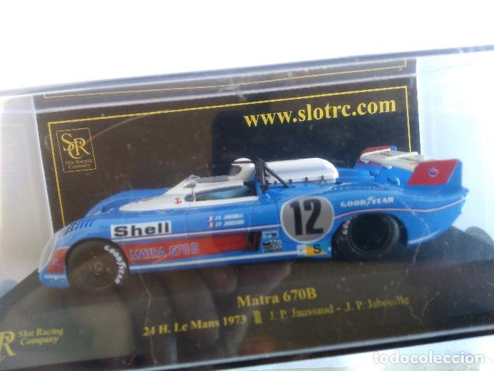SRC SLOT RACING COMPANY MATRA 670B LE MANS 73, EN URNA. FUNCIONA EN SCALEXTRIC (Juguetes - Slot Cars - Magic Cars y Otros)