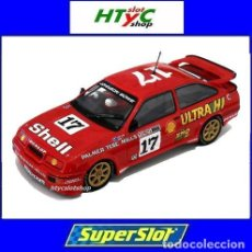 Slot Cars: SUPERSLOT FORD SIERRA RS #17 SHELL BATHURST 1989 HARDIE FERODO 1000 JOHNSON / BOWE SCALEXTRIC H3740. Lote 86648136