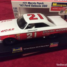 Slot Cars: REVELL MONOGRAM '63 FORD GALAXIE 500 #21 MARVIN PANCH 1:32 SLOT CAR. Lote 72913783