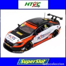 Slot Cars: SUPERSLOT VOLKSWAGEN PASSAT #99 PLATO BTCC 2015 BRANDS HATCH SCALEXTRIC UK H3737. Lote 87707740