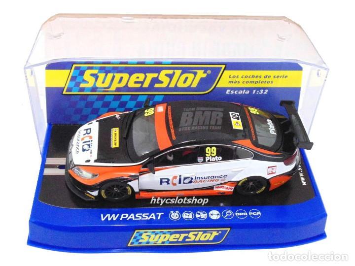 Slot Cars: SUPERSLOT VOLKSWAGEN PASSAT #99 PLATO BTCC 2015 BRANDS HATCH SCALEXTRIC UK H3737 - Foto 6 - 87707740