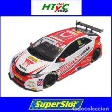 Slot Cars: SUPERSLOT HONDA CIVIC TYPE R #52 BTCC 2015 GORDON SHEDDEN YUASA SCALEXTRIC UK H3783. Lote 89545648