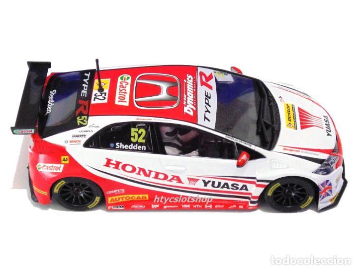 Slot Cars: SUPERSLOT HONDA CIVIC TYPE R #52 BTCC 2015 GORDON SHEDDEN YUASA SCALEXTRIC UK H3783 - Foto 3 - 89545648