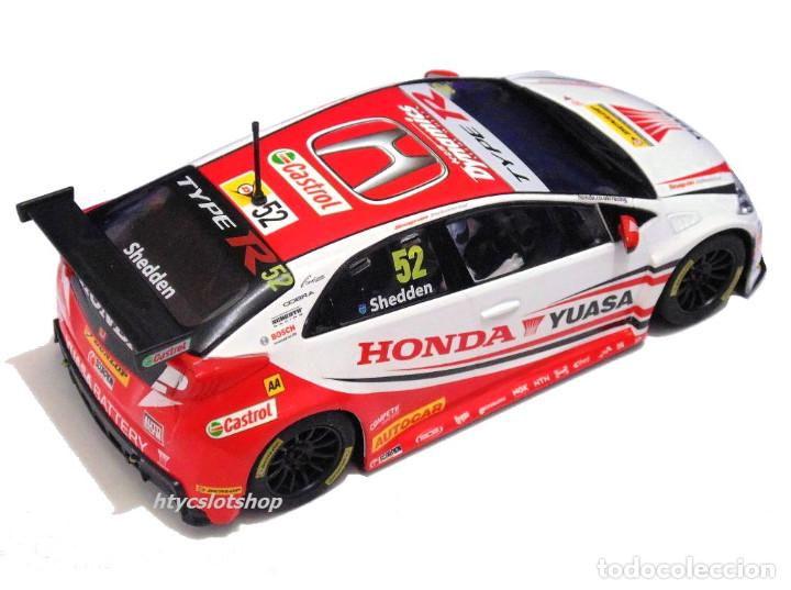 Slot Cars: SUPERSLOT HONDA CIVIC TYPE R #52 BTCC 2015 GORDON SHEDDEN YUASA SCALEXTRIC UK H3783 - Foto 4 - 89545648